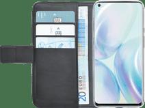 Azuri Wallet OnePlus 8 Bücherregal Schwarz