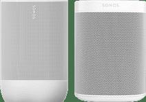 Sonos Move Weiß + Sonos One Weiß