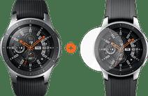 Samsung Galaxy Watch 46mm Silber + PanzerGlass Displayschutzfolie Glas