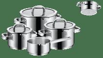 WMF Function 4 vierteiliges Pfannenset mit kostenlosem Dampfeinsatz Schwarz