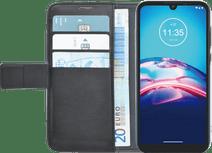 Azuri Brieftasche Motorola Moto E6s Bücherregal Schwarz