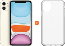 Apple iPhone 11 128 GB Weiß + Otterbox Clearly Protected Skin
