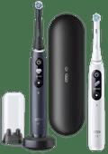 Oral-B iO - 8n - Elektrische Zahnbürsten Weiß und Schwarz, Duopack