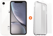 Apple iPhone Xr 128 GB Weiß + Otterbox Clearly Protected Skin Alpha Glass