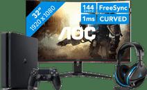PlayStation Gaming-Bildschirm Setup
