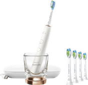 Philips Sonicare DiamondClean 9000 HX9911/94 + Optimal White Standard HX6064/11 (4 Stück)