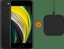 Apple iPhone SE 64 GB Schwarz + ZENS Slim Line drahtloses Ladegerät
