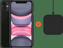 Apple iPhone 11 64 GB Schwarz + ZENS Slim Line kabelloses Ladegerät
