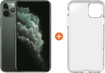 Apple iPhone 11 Pro 64 GB Midnight Green + Tech21 Pure Back Cover Transparant