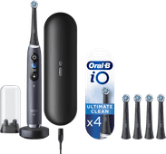 Oral-B iO - 9n Schwarz Powered By Braun + 4 Bürstenköpfe