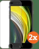 Azuri Rinox Case Friendly Apple iPhone SE 2 / 8 / 7 / 6 / 6s Displayschutzfolie Glas Doppe