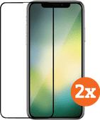 Azuri Case Friendly Apple iPhone 11 / Xr Displayschutzfolie Glas Doppelpack