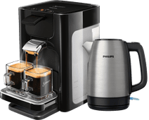 Philips Senseo Quadrante HD7865/60 Schwarz + Wasserkocher