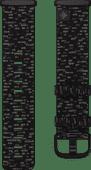 Fitbit Versa 3/Sense Nylonband Anthrazit S