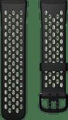 Fitbit Versa 3/Sense Silikonarmband Schwarz/Weiß S