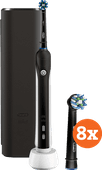 Oral-b Pro 2 2500 schwarz + Cross Action-Bürstenköpfe (8 Stück)