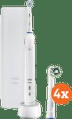 Oral-b Pro 2 2500 weiß + Cross Action-Bürstenköpfe (4 Stück)