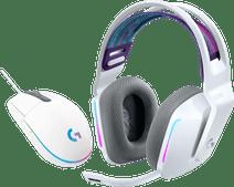 Logitech G733 LIGHTSPEED Wireless Gaming Headset Weiß + Logitech G203 Gaming Mouse