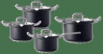 BK-Q-Linair Master Glass Schwarz 4-teiliges Set