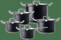 BK-Q-Linair Master Glass Schwarz 5-teiliges Set
