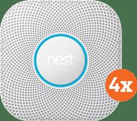 Google Nest Protect V2 Netzstrom 4er-Pack
