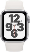 Apple Watch SE 40mm Silber Aluminium Weißes Sportarmband
