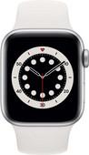 Apple Watch Series 6 40mm Silber Aluminium Weißes Sportarmband