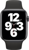 Apple Watch SE 44mm Space Grau Aluminium Schwarzes Sportarmband