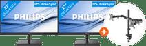 2x Philips 275E1S/00 + NewStar FPMA-D550DBLACK