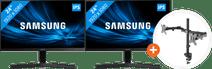 2x Samsung LS24R356FHU + NewStar FPMA-D550DBLACK