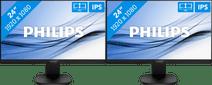 2x Philips 243S7EHMB/00