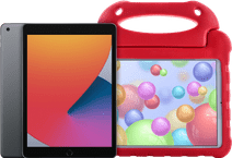 Apple iPad (2020) 128 GB WLAN Space Grau + Kinderhülle Rot