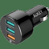 Aukey Quick Charge 3.0 Autolader ohne Kabel mit 3 USB-A-Anschlüssen 18 W Schwarz