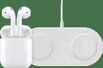 Apple AirPods 2 mit kabellosem Ladecase + kabelloses Ladegerät