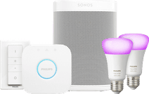 Sonos One Weiß Philips Hue White & Color Starter-Duo-Pack