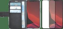 Azuri Wallet Apple iPhone 12 Pro Max Book Case Schwarz + Azuri Displayschutzfolie