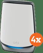 Netgear Orbi Wifi 6 RBK853 Multiroom WLAN 4er-Pack