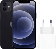 Apple iPhone 12 64 GB Schwarz + Apple USB-C-Ladegerät 20W