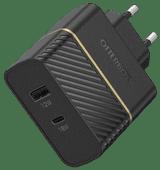 OtterBox Ladegerät ohne Kabel 2 USB-Ports 18 W Power Delivery Schwarz