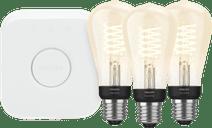Philips Hue Filamentlampe White Edison E27 Bluetooth Starter-3er-Pack
