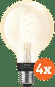 Philips Hue Filamentlampe White Globe E27 Bluetooth 4er-Pack
