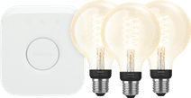 Philips Hue Filamentlampe White Globe E27 Bluetooth Starter-3er-Pack