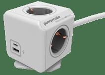 Allocacoc PowerCube Steckdosenleiste mit drei USB-A und USB-C-Anschlüssen 1,5 m