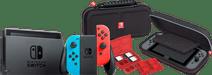 Nintendo Switch (2019 Upgrade) Rot/Blau + Bigben Nintendo Switch Travel Case Schwarz