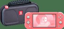 Nintendo Switch Lite Korallrot + Bigben Offizielle Nintendo Switch Lite-Schutztasche