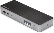 Universelles StarTech Hybrid USB-C- und USB-A-Dock mit Dual-HDMI/DP und 60-W-PD