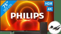 Philips 75PUS7805 - Ambilight + Soundbar + HDMI-Kabel