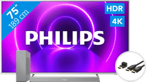 Philips The One 75PUS8505 - Ambilight + Soundbar + HDMI-Kabel