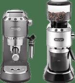 De'Longhi Dedica Metallics EC 785 Grau + Kaffeemühle