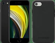 Apple iPhone SE 128 GB Schwarz + Otterbox Symmetry Backcover Schwarz